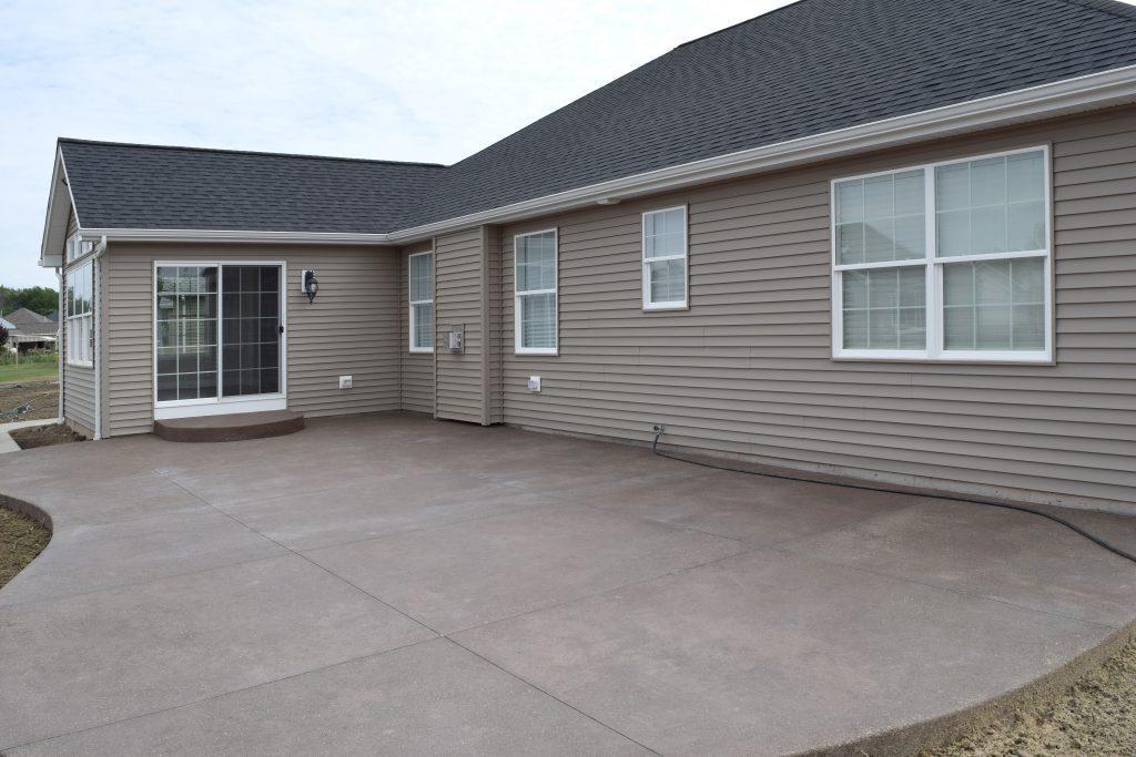 concrete patio flatwork installation concrete slab pour best porch installation